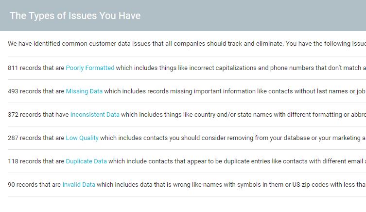 customer data health assessment data scrubbing