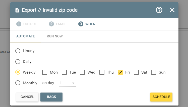 export-invalid-zipcode-automation